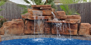 Rock Work And Waterfalls